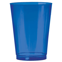 Amscan Plastic Tumblers, 10 Oz, Bright Royal Blue, Pack Of 72 Tumblers
