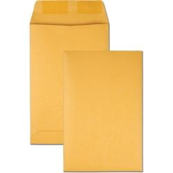 "Quality Park Kraft Catalog Envelopes - Catalog - #1 - 6"" Width x 9"" Length - 28 lb - Gummed - Kraft - 100 / Box - Kraft"