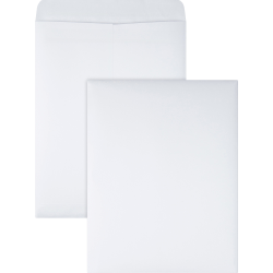 "Quality Park® Redi-Seal® Catalog Envelopes, 9 1/2"" x 12 1/2"", White, Box Of 100"