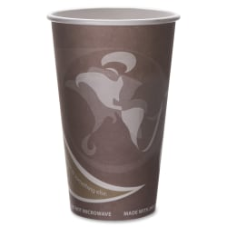 Eco-Products Recycled Hot Cups - 50 - 16 fl oz - 500 / Carton - Multi - Fiber - Hot Drink - Recycled