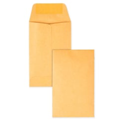 "Quality Park® Coin Envelopes, 2 1/4"" x 3 1/2"", Brown Kraft, Box Of 500"