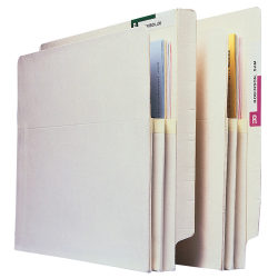 "Pendaflex® Manila Convertible End-Tab File Pockets, Letter Size, 3 1/2"" Expansion, Manila, Box Of 25"
