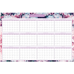 """Blue Sky™ Laminated Wall Calendar, 36"""" x 24"""", Lucca, July 2021 To June 2022, 135714"""