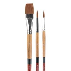Princeton Snap Paint Brush Set, Set 2, Assorted Bristles, Synthetic, Brown