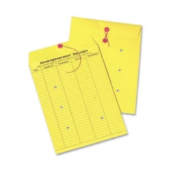 """Quality Park® Interdepartment String & Button Closure Envelopes, 10"""" x 13"""", Yellow, Box Of 100"""