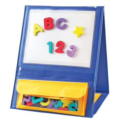 """Learning Resources Double-Sided Magnetic Tabletop Pocket Chart, 4""""H x 12 1/4""""W x 14 3/4""""D, Multicolor, Kindergarten - Grade 2"""