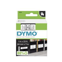 """DYMO® D1 53713 Black-On-White Tape, 1"""" x 23'"""