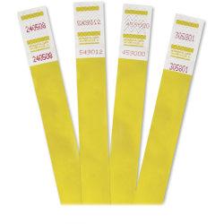 "Advantus 500-Pack Tyvek Colored Wrist Bands - 3/4"" Width x 10"" Length - Rectangle - Yellow - Tyvek - 500 / Pack"