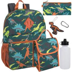 Trailmaker 6-In-1 Backpack Set, Dinos