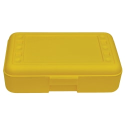 """Romanoff Products Pencil Boxes, 8 1/2""""H x 5 1/2""""W x 2 1/2""""D, Yellow, Pack Of 12"""