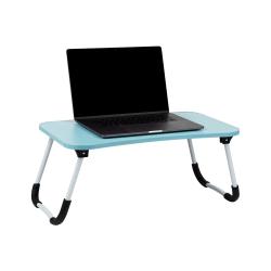 "Mind Reader Bamboo Laptop Lap Desk, 15-1/4""L x 23""W, Blue"