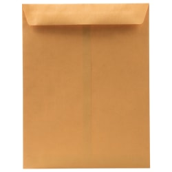 "JAM Paper® Business Booklet Envelopes, #10, 4 1/8"" x 9 1/2"", Bronze Metallic, Pack Of 25"