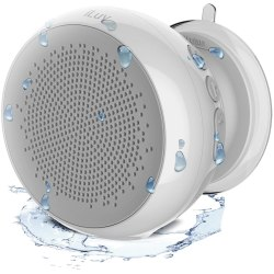 iLuv Aud Portable Rechargeable Bluetooth® Speaker, White, AUDSHWRWH