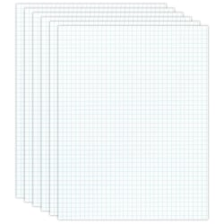 Office Depot® Brand Quadrille Pads, 4 x 4 Squares/Inch, 50 Sheets, White, Pack Of 6