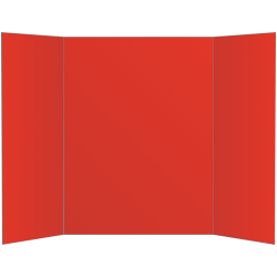 "Office Depot® Brand 80% Recycled Tri-Fold Corrugate Display Board, 36"" x 48"", Red"