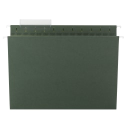 Smead® TUFF® Hanging Folders With Easy Slide™ Tabs, Letter Size, Standard Green, Box Of 20