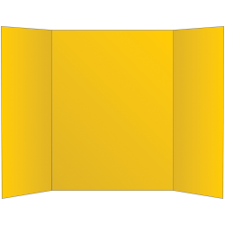 """Office Depot® Brand 72% Recycled Tri-Fold Corrugate Display Board, 36"""" x 48"""", Yellow"""