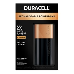 Duracell® Mobile Rechargeable Powerbank, 2 Day, 6700 mAh