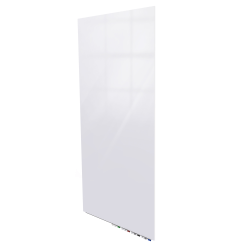 """Ghent Aria Low-Profile Magnetic Glass Board, 96"""" x 48"""", White"""
