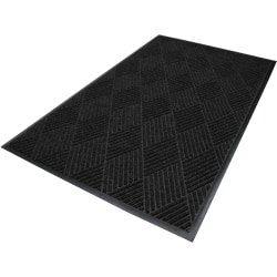 M+A Matting Waterhog Eco Premier Classic Floor Mat, 3'H x 10'W, Black Smoke