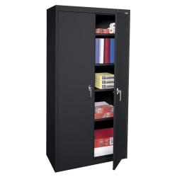 """Sandusky Steel Welded/Assembled Storage Cabinet, 4 Adjustable Shelves, 72""""H, Black"""