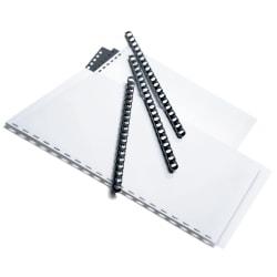 "Office Depot® Brand 3/8"" Binding Combs, 55-Sheet Capacity, Black, Pack Of 25"