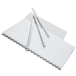 """Office Depot® Brand 3/8"""" Binding Combs, 55-Sheet Capacity, White, Pack Of 25"""