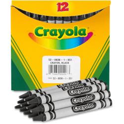 Crayola® Crayon Refills #836, Black, Box Of 12