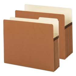 "Smead® Expanding File Pockets, 1 3/4"" Expansion, 9 1/2"" x 11 3/4"", 30% Recycled, Redrope"