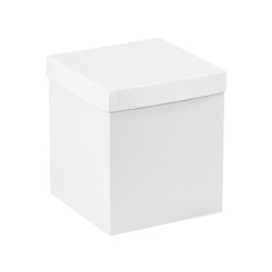 "Partners Brand White Deluxe Gift Box Bottoms 8"" x 8"" x 9"", Case of 50"