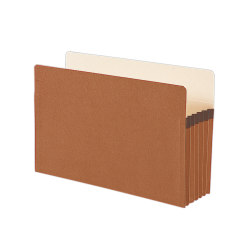 """Smead® Expanding File Pockets, 5 1/4"""" Expansion, 9 1/2"""" x 14 3/4"""", 30% Recycled, Redrope"""
