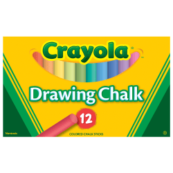 Crayola® Drawing Chalk, Assorted Colors, Box Of 12