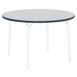 "Lorell® Classroom Round Activity Table Top, 48""W, Gray Nebula/Navy"