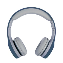 Ativa™ Kids' On-Ear Wired Headphones With On-Cord Microphone, Blue/Gray