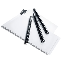 "Office Depot® Brand 5/8"" Binding Combs, 125-Sheet Capacity, Black, Pack Of 25"