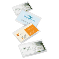 "Office Depot® Brand Laminating Pouches, Business Card Size, 5 Mil, 2.56"" x 3.75"", Pack Of 100"
