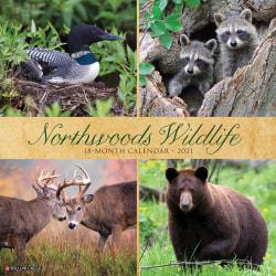 "Willow Creek Press Animals Monthly Wall Calendar, Northwest Wildlife, 12"" x 12"", January To December 2021"