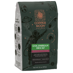Copper Moon® World Coffees Whole Bean Coffee, Colombian Decaf, 2 Lb, Carton Of 4 Bags