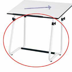 Safco® Vista Drawing Table Base, White