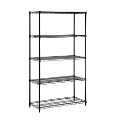 Honey-Can-Do Urban Steel Adjustable Industrial Shelving Unit, 5-Tier, Black