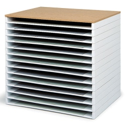 """Safco® Giant Stack Trays, 3""""H x 39""""W x 26""""D, White, Pack Of 2"""