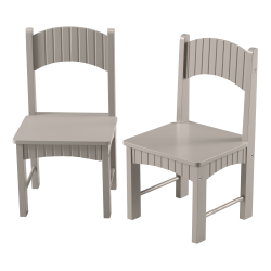 Linon Tallulah Youth Chairs, Gray, Set Of 2 Chairs