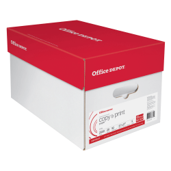 "Office Depot® Brand Copy And Print Paper, Ledger Size (11"" x 17""), 20 Lb, Ream Of 500 Sheets, Case Of 5 Reams"