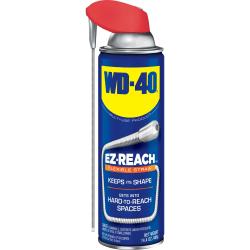 WD-40 EZ Reach Flexible Stray Lubricant - Ready-To-Use Aerosol - 14.4 fl oz (0.5 quart) - 1 Each - Light Amber