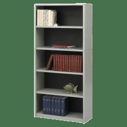 Safco® Value Mate® Steel Bookcase, 5 Shelves, Gray