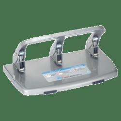 CARL HC340 Medium-Duty 3-Hole Punch, Gray