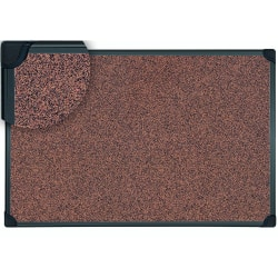 "MasterVision® Techcork Bulletin Board, Rubber, 24"" x 36"", Brown , Black Aluminum Frame"