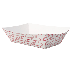 Boardwalk® Paper Food Baskets, 1/2 Lb Capacity, Red/White, Pack Of 1,000