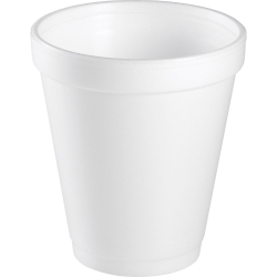 Dart® Insulated Foam Drinking Cups, White, 8 Oz, Box Of 1,000 Cups