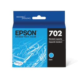 Epson® DURABrite® Ultra T702220-S Cyan Standard-Yield Ink Cartridge